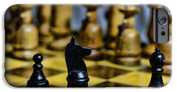 Chess Players iPhone Cases - Game of Chess iPhone Case by Paul Ward