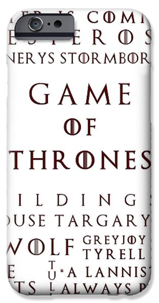 Hierarchy iPhone Cases - Game Of Thrones 1 iPhone Case by Nomad Art And  Design