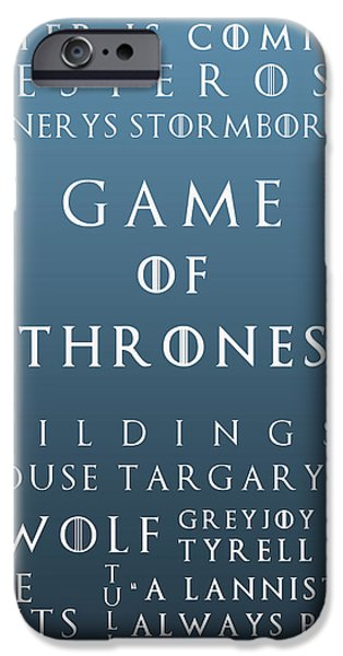 Hierarchy iPhone Cases - Game Of Thrones 11 iPhone Case by Nomad Art And  Design