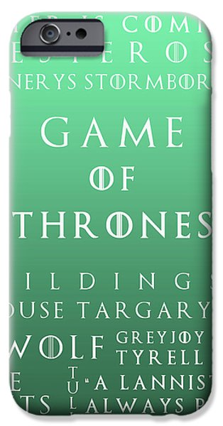 Hierarchy iPhone Cases - Game Of Thrones 15 iPhone Case by Nomad Art And  Design