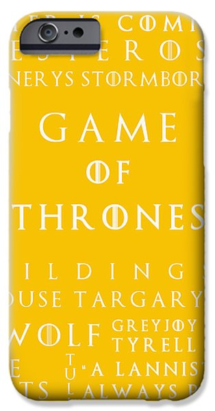 Hierarchy iPhone Cases - Game Of Thrones 16 iPhone Case by Nomad Art And  Design