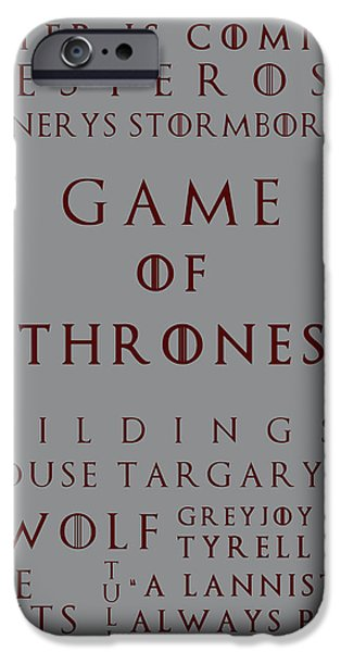 Hierarchy iPhone Cases - Game Of Thrones 2 iPhone Case by Nomad Art And  Design