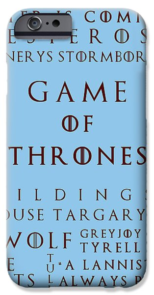 Hierarchy iPhone Cases - Game Of Thrones 3 iPhone Case by Nomad Art And  Design