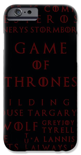 Hierarchy iPhone Cases - Game Of Thrones 4 iPhone Case by Nomad Art And  Design