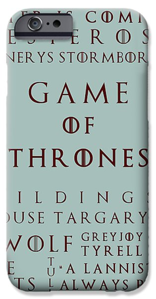 Hierarchy iPhone Cases - Game Of Thrones 5 iPhone Case by Nomad Art And  Design