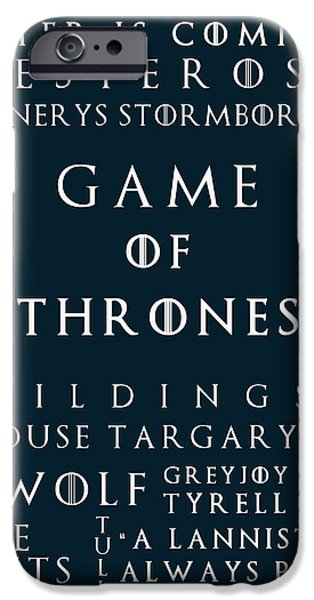 Hierarchy iPhone Cases - Game Of Thrones 7 iPhone Case by Nomad Art And  Design