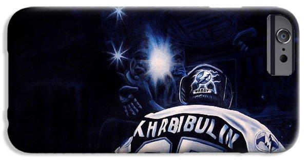 Hockey Paintings iPhone Cases - Gametime iPhone Case by Marlon Huynh