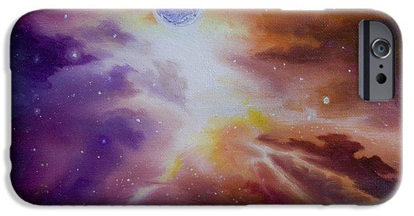 Hammer Paintings iPhone Cases - Gamma Nebula iPhone Case by James Christopher Hill