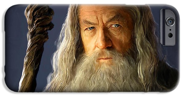 Cave Digital iPhone Cases - Gandalf iPhone Case by Paul Tagliamonte