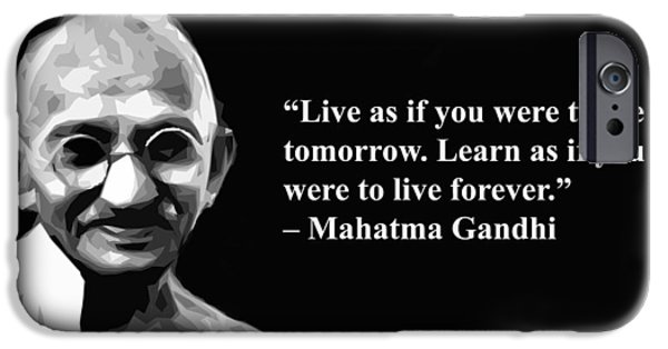 Obama iPhone Cases - Gandhi on learning iPhone Case by Artist  Singh