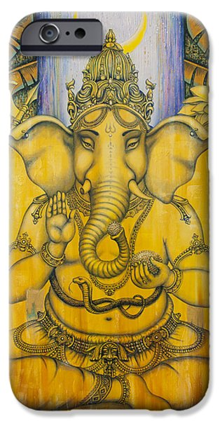 Transformation iPhone Cases - Ganesha iPhone Case by Vrindavan Das