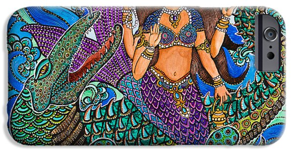 Recently Sold -  - Hindu Goddess iPhone Cases - Ganga iPhone Case by Melissa Cole