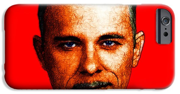 Spoof iPhone Cases - Gangman Style - John Dillinger 13225 - Red - Color Sketch Style iPhone Case by Wingsdomain Art and Photography