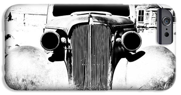 Ghost iPhone Cases - Gangster Car iPhone Case by Cat Connor
