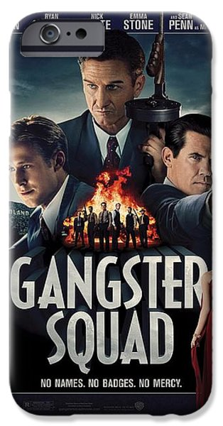 Crime Drama Movie iPhone Cases - Gangster Squad iPhone Case by Movie Poster Prints