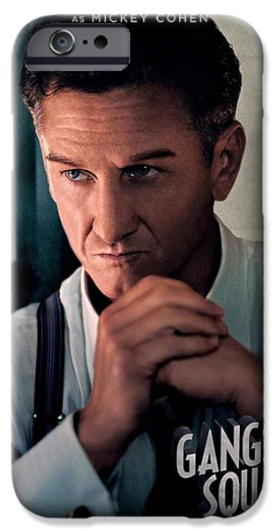 Crime Drama Movie iPhone Cases - Gangster Squad Penn iPhone Case by Movie Poster Prints