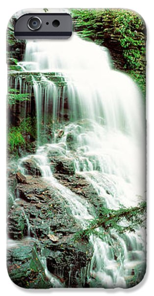 Descending iPhone Cases - Ganoga Falls Ricketts Glenn State Park iPhone Case by Panoramic Images