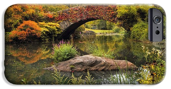 Autumn iPhone Cases - Gapstow Bridge Serenity iPhone Case by Jessica Jenney