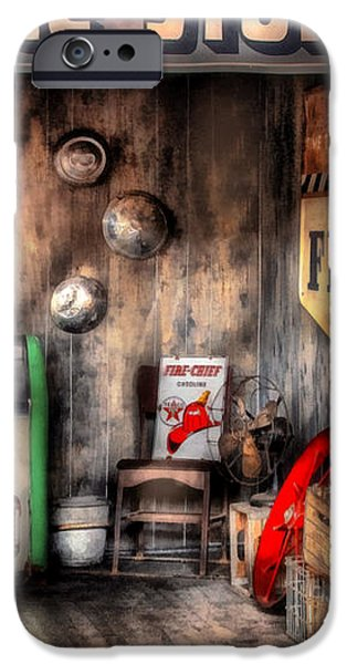 Garage - Advance Stores  iPhone Case by Mike Savad