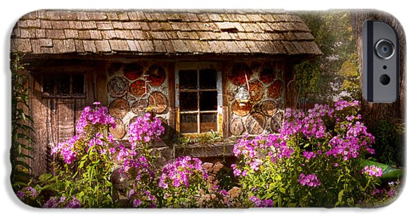 Cabin Window iPhone Cases - Garden - Belvidere NJ - My little cottage iPhone Case by Mike Savad