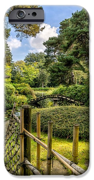 Bamboo Fence iPhone Cases - Garden Bridge iPhone Case by Adrian Evans