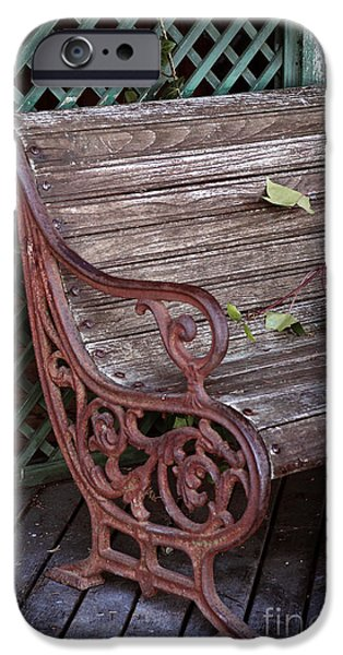 Furniture iPhone Cases - Garden Chair iPhone Case by Carlos Caetano