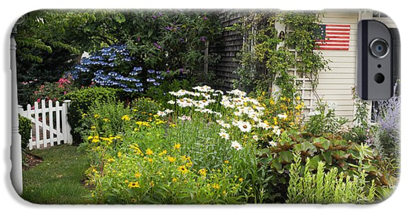 Chatham iPhone Cases - Garden Cottage iPhone Case by Bill  Wakeley