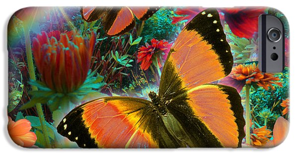 Fantasy iPhone Cases - Garden Day iPhone Case by Alixandra Mullins