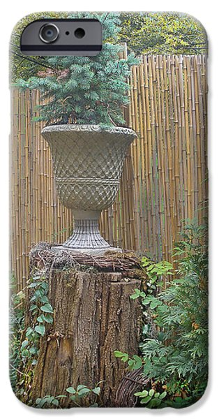 Garden Decor 2 iPhone Case by Muriel Levison Goodwin