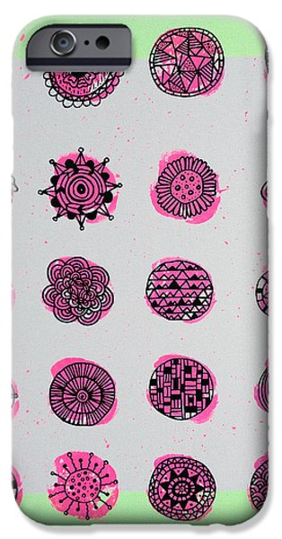Graphic Design iPhone Cases - Garden Fusion iPhone Case by Susan Claire