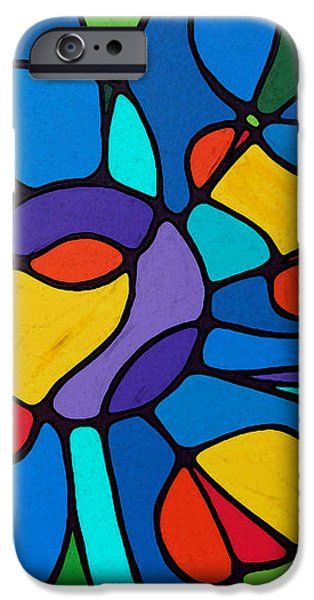 Garden Goddess - Abstract Flower by Sharon Cummings iPhone Case by Sharon Cummings