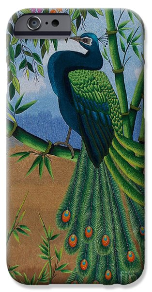 Birds Tapestries - Textiles iPhone Cases - Garden Jewel 1 hand embroidery iPhone Case by To-Tam Gerwe