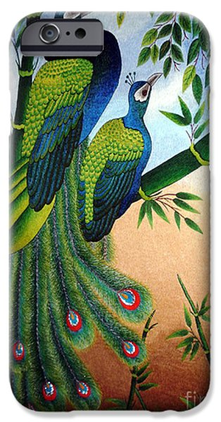 Birds Tapestries - Textiles iPhone Cases - Garden Jewel II hand embroidery iPhone Case by To-Tam Gerwe