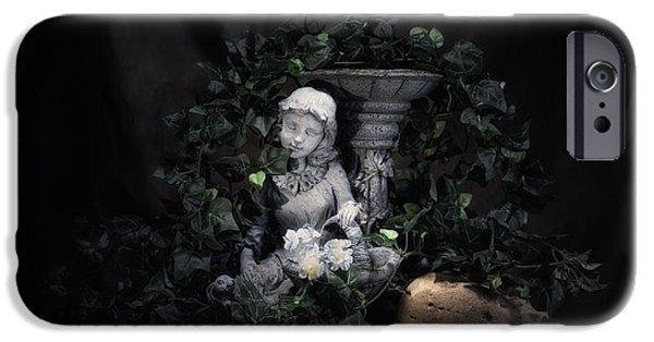 Innocence iPhone Cases - Garden Maiden iPhone Case by Tom Mc Nemar