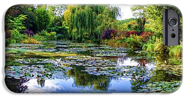 Painter Photographs iPhone Cases - Garden of Dreams iPhone Case by Olivier Le Queinec