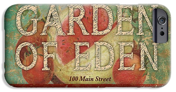 Fed Mixed Media iPhone Cases - Garden of Eden iPhone Case by Marilu Windvand