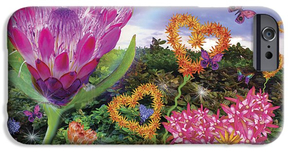 Composite iPhone Cases - Garden of Love 2 iPhone Case by Alixandra Mullins