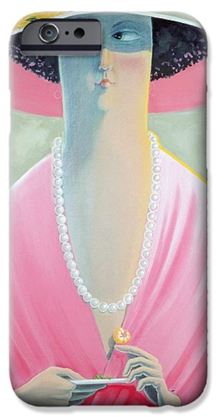 First Lady iPhone Cases - Garden Party  iPhone Case by Carolyn McNellis