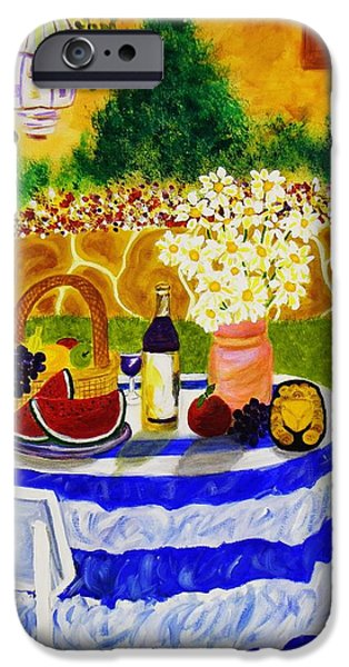 Garden Scene Paintings iPhone Cases - Garden Party iPhone Case by Celeste Manning
