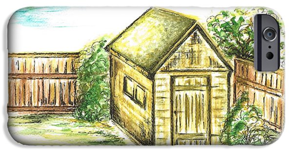 Shed Mixed Media iPhone Cases - Garden Shed iPhone Case by Teresa White