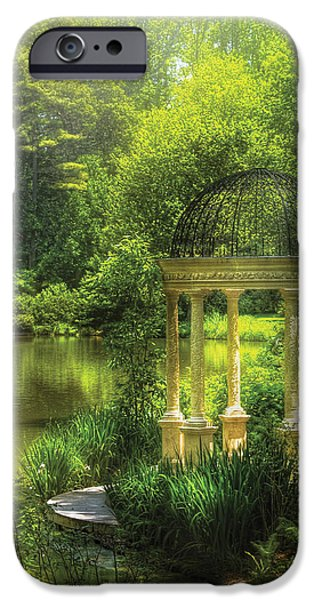 Garden - The Temple of Love iPhone Case by Mike Savad