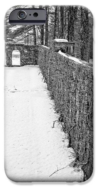 Gild iPhone Cases - Garden Wall The Mount in Winter iPhone Case by Edward Fielding