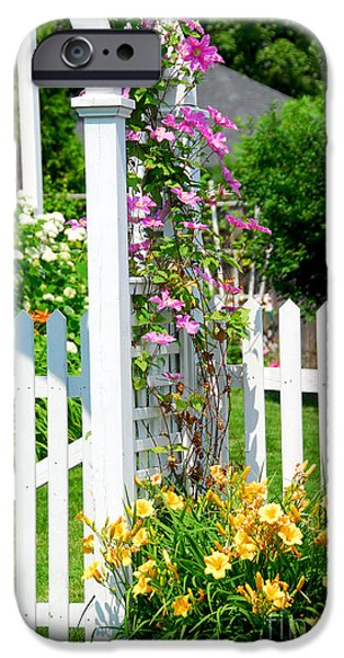 Garden with picket fence iPhone Case by Elena Elisseeva