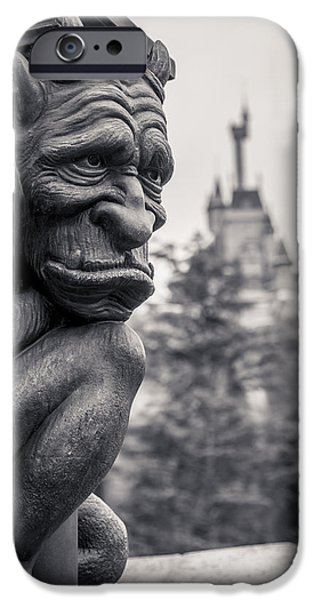 Magic Kingdom iPhone Cases - Gargoyle iPhone Case by Adam Romanowicz