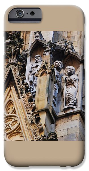 Historic Site iPhone Cases - Gargoyles York Minster iPhone Case by Marcus Dagan