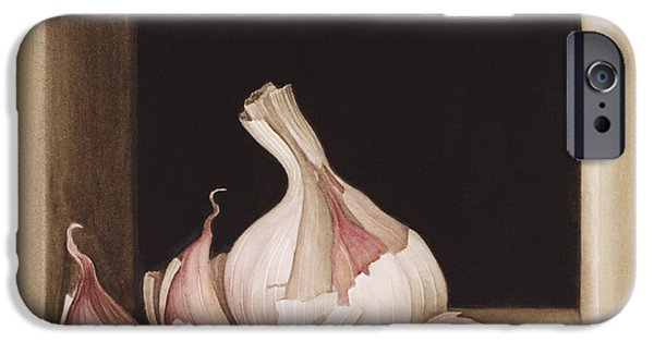 Vegetables iPhone Cases - Garlic iPhone Case by Jenny Barron
