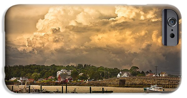 Bailey Island iPhone Cases - Garrison Cove Thunderstorm iPhone Case by Benjamin Williamson