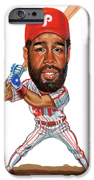 Mlb.com iPhone Cases - Garry Maddox iPhone Case by Art