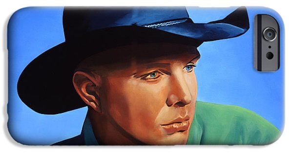 Vocal iPhone Cases - Garth Brooks iPhone Case by Paul  Meijering