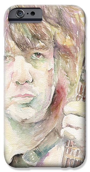 Mick Jagger Paintings iPhone Cases - Gary Moore iPhone Case by Marina Sotiriou